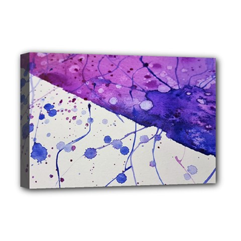 Art Painting Abstract Spots Deluxe Canvas 18  X 12