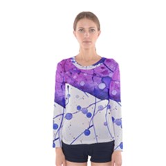 Art Painting Abstract Spots Women s Long Sleeve Tee