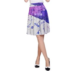 Art Painting Abstract Spots A Line Skirt