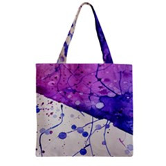 Art Painting Abstract Spots Zipper Grocery Tote Bag