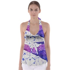 Art Painting Abstract Spots Babydoll Tankini Top