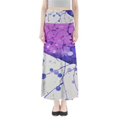 Art Painting Abstract Spots Full Length Maxi Skirt