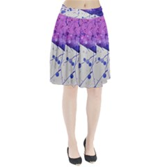 Art Painting Abstract Spots Pleated Skirt