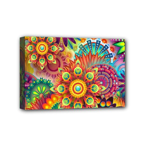 Colorful Abstract Background Colorful Mini Canvas 6  X 4