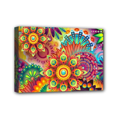 Colorful Abstract Background Colorful Mini Canvas 7  X 5