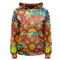 Colorful Abstract Background Colorful Women s Pullover Hoodie