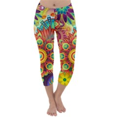 Colorful Abstract Background Colorful Capri Winter Leggings