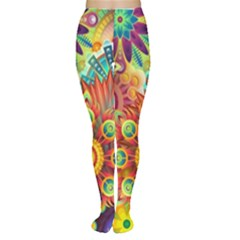 Colorful Abstract Background Colorful Women s Tights