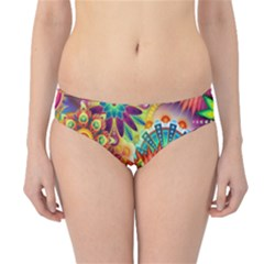 Colorful Abstract Background Colorful Hipster Bikini Bottoms