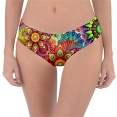 Colorful Abstract Background Colorful Reversible Classic Bikini Bottoms