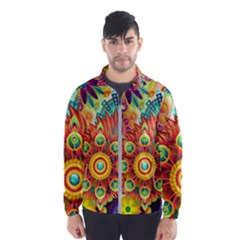 Colorful Abstract Background Colorful Wind Breaker (men)