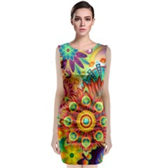 Colorful Abstract Background Colorful Classic Sleeveless Midi Dress