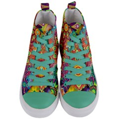 Colorful Abstract Background Colorful Women s Mid Top Canvas Sneakers
