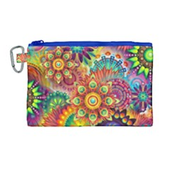 Colorful Abstract Background Colorful Canvas Cosmetic Bag (large) by Nexatart