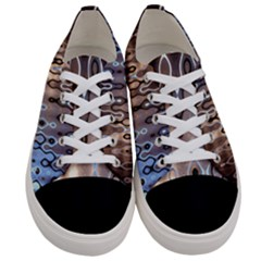 Wallpaper Steel Industry Women s Low Top Canvas Sneakers