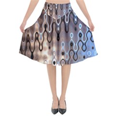 Wallpaper Steel Industry Flared Midi Skirt