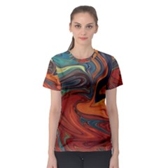 Creativity Abstract Art Women s Sport Mesh Tee