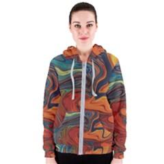 Creativity Abstract Art Women s Zipper Hoodie