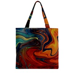 Creativity Abstract Art Zipper Grocery Tote Bag