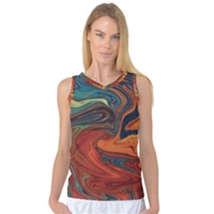 Creativity Abstract Art Women s Basketball Tank Top