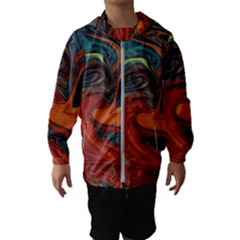 Creativity Abstract Art Hooded Wind Breaker (kids)