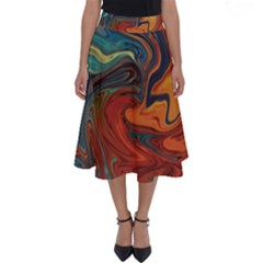 Creativity Abstract Art Perfect Length Midi Skirt