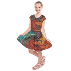 Creativity Abstract Art Kids  Short Sleeve Dress