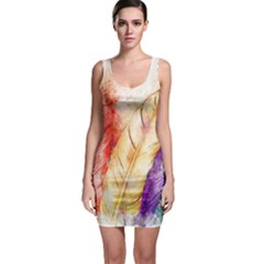 Feathers Bird Animal Art Abstract Bodycon Dress