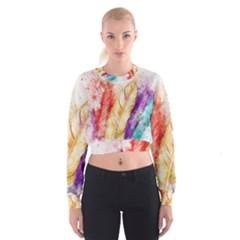 Feathers Bird Animal Art Abstract Cropped Sweatshirt
