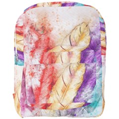 Feathers Bird Animal Art Abstract Full Print Backpack