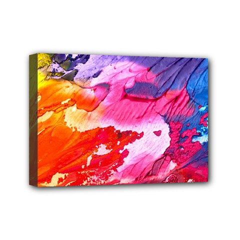 Abstract Art Background Paint Mini Canvas 7  X 5