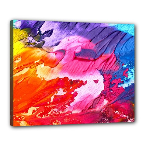 Abstract Art Background Paint Canvas 20  X 16