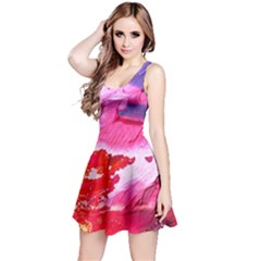 Abstract Art Background Paint Reversible Sleeveless Dress