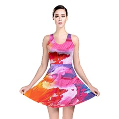 Abstract Art Background Paint Reversible Skater Dress