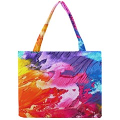 Abstract Art Background Paint Mini Tote Bag
