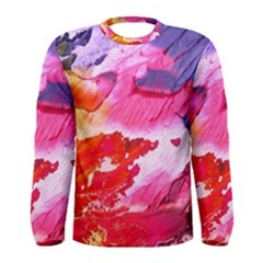 Abstract Art Background Paint Men s Long Sleeve Tee