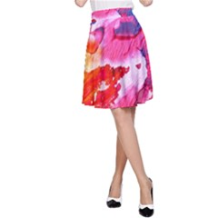 Abstract Art Background Paint A Line Skirt