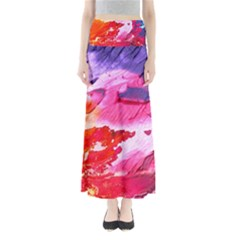 Abstract Art Background Paint Full Length Maxi Skirt