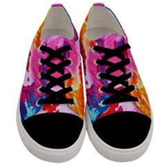 Abstract Art Background Paint Men s Low Top Canvas Sneakers