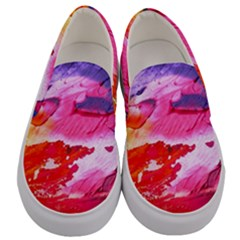 Abstract Art Background Paint Men s Canvas Slip Ons