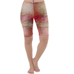 Background Art Abstract Watercolor Cropped Leggings