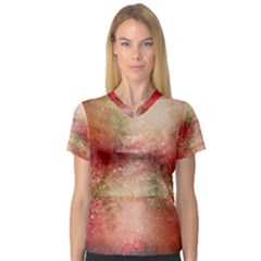 Background Art Abstract Watercolor V Neck Sport Mesh Tee