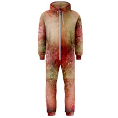 Background Art Abstract Watercolor Hooded Jumpsuit (men)