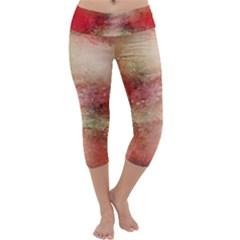Background Art Abstract Watercolor Capri Yoga Leggings