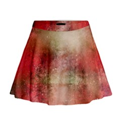 Background Art Abstract Watercolor Mini Flare Skirt