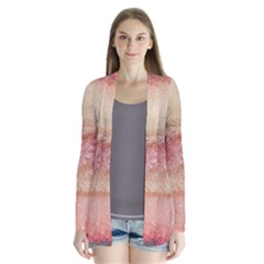 Background Art Abstract Watercolor Drape Collar Cardigan