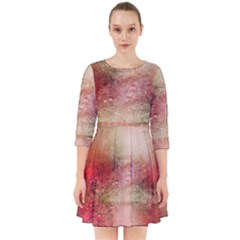 Background Art Abstract Watercolor Smock Dress