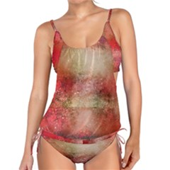 Background Art Abstract Watercolor Tankini Set