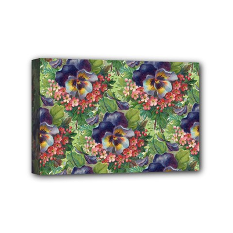 Background Square Flower Vintage Mini Canvas 6  X 4