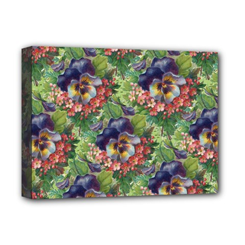 Background Square Flower Vintage Deluxe Canvas 16  X 12